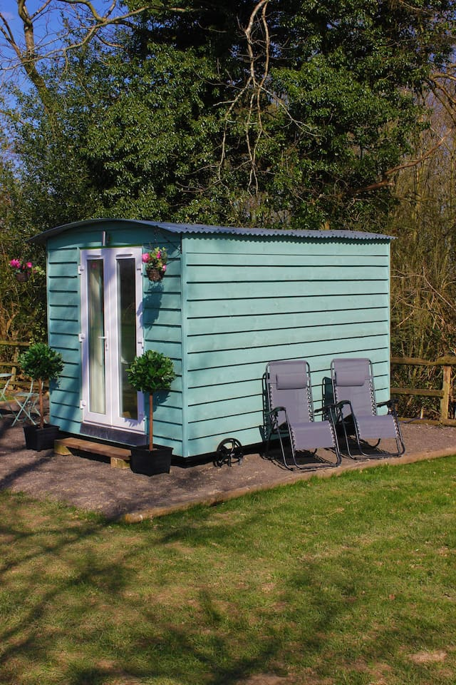 One of our beautiful shepherds huts