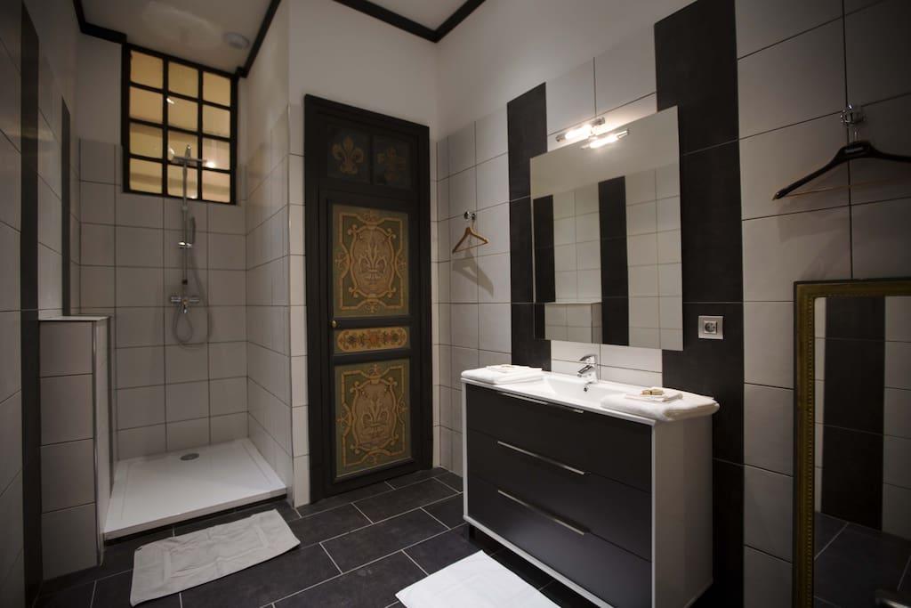 la salle d'eau et wc privatif
