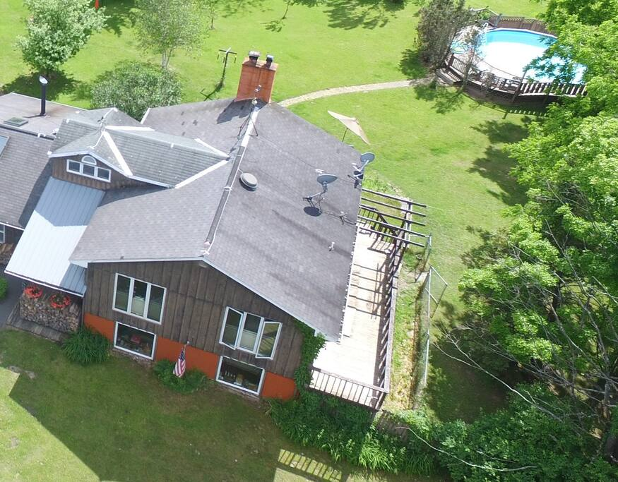 Aerial view, from front.