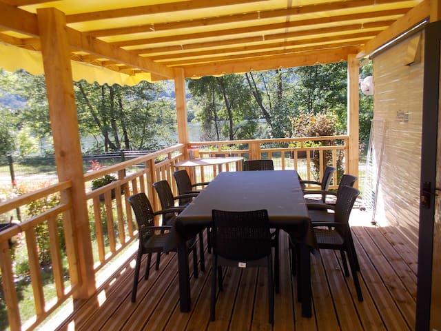 mobilhom 3 chambres camping les rives de condrieu - Condrieu - Бунгало
