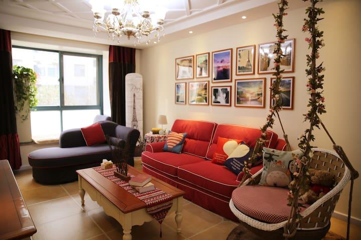 市北区 一室一厅 靠近科技街 五四广场 奥帆中心 可步行劈材院 - Qingdao - Huoneisto