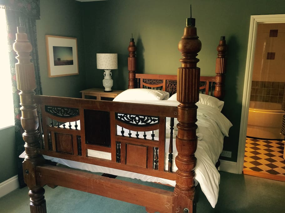 Handcrafted  high Indian bed