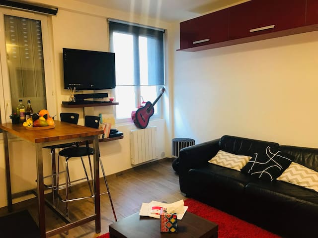 Appartement 15 minutes from paris by transports