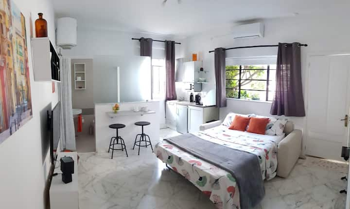 Private studio near beach with outside space
