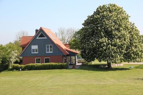Haus am Elbdeich in der Elbtalaue