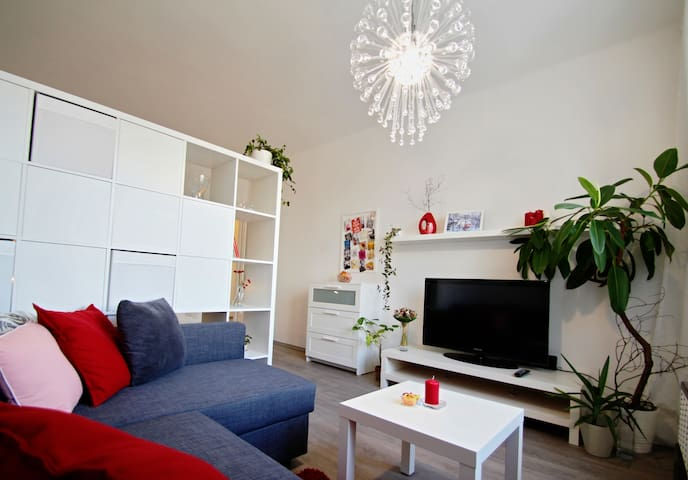 Modern, comfy flat with a beautiful view of Prague