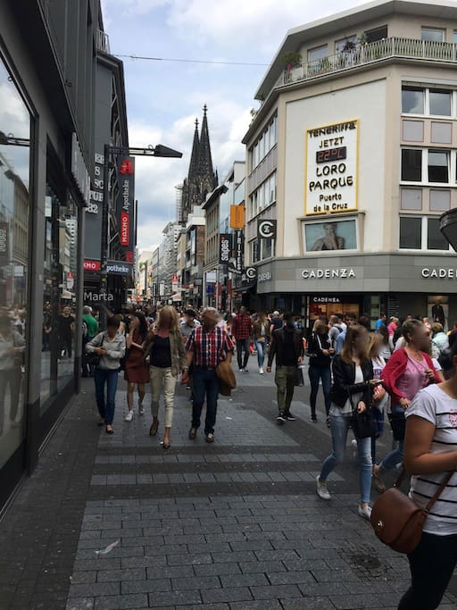 The famous shopping area, Hohe str.