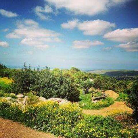 בית נעים בטבע, אווירה שקטה ונוף לים - כליל - Phare