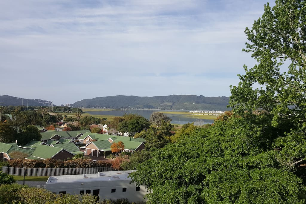 The world famous Knysna Heads and lagoon from the balcony