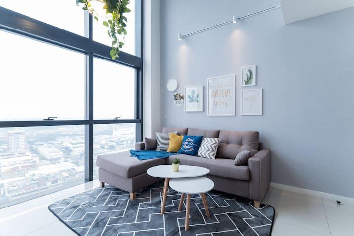 NEW! PROMO Nordic Garden Duplex 8mins to Sunway