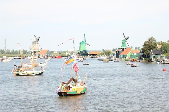 Privat room - visit Zaanse Schans & Amsterdam - Zaandijk
