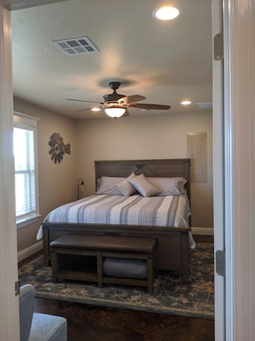 View of the master bedroom from the Living area