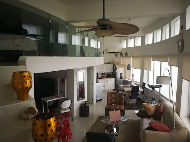 Apartamento tipo loft con vista increíble