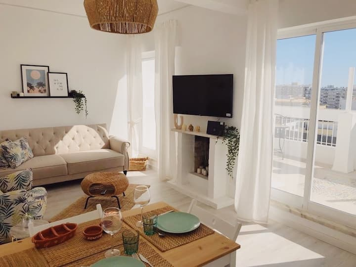 Boho Chic Penthouse in Faro