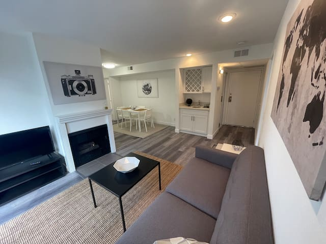 Furnished 2BD/2BA w/ Balcony, Fireplace, Gym, Pool