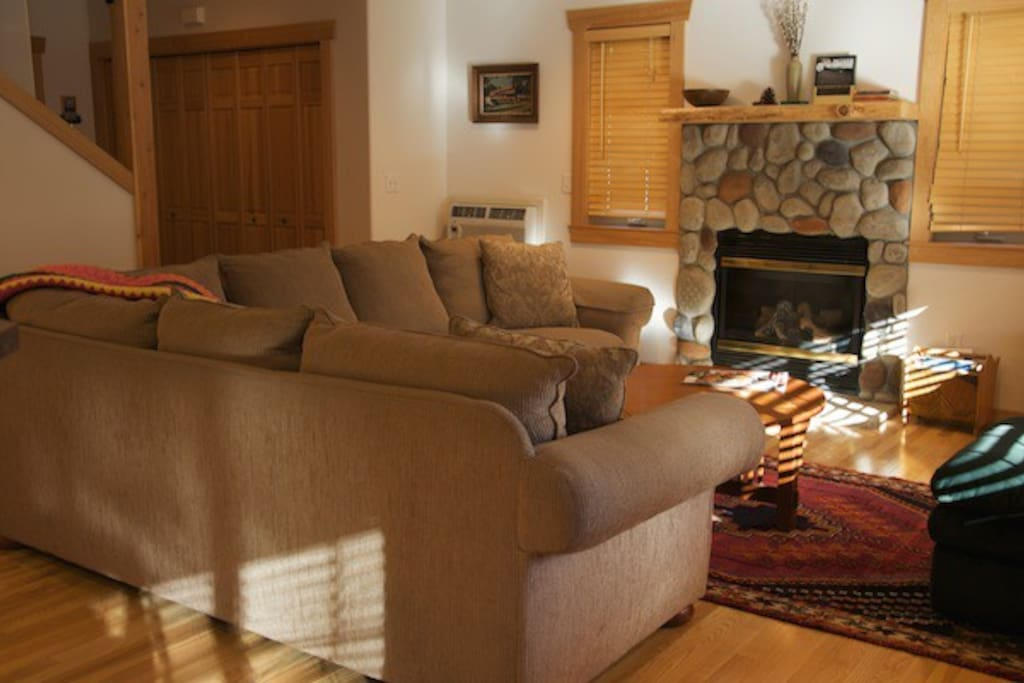 Propane fireplace and comfortable seating