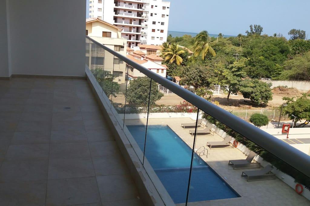 Genial vista del balcón