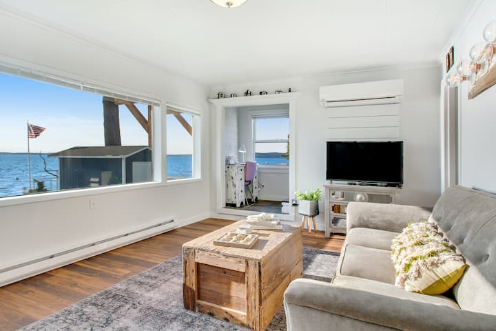 New listing! Pristine, waterfront home w/ a furnished deck & spectacular views