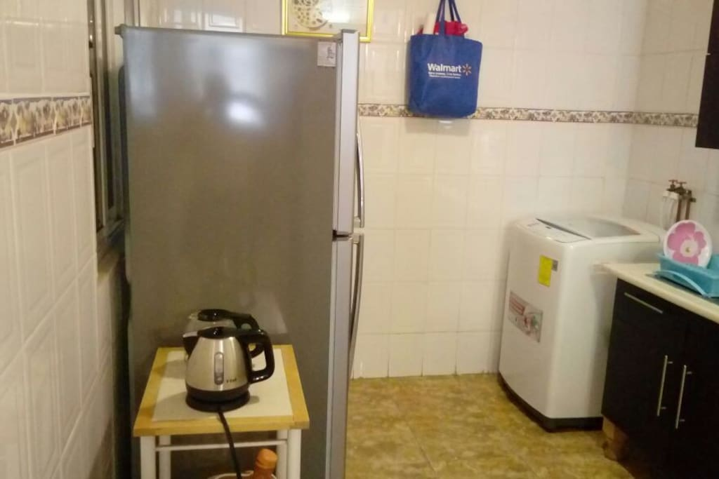 refrigerador y cocina integral