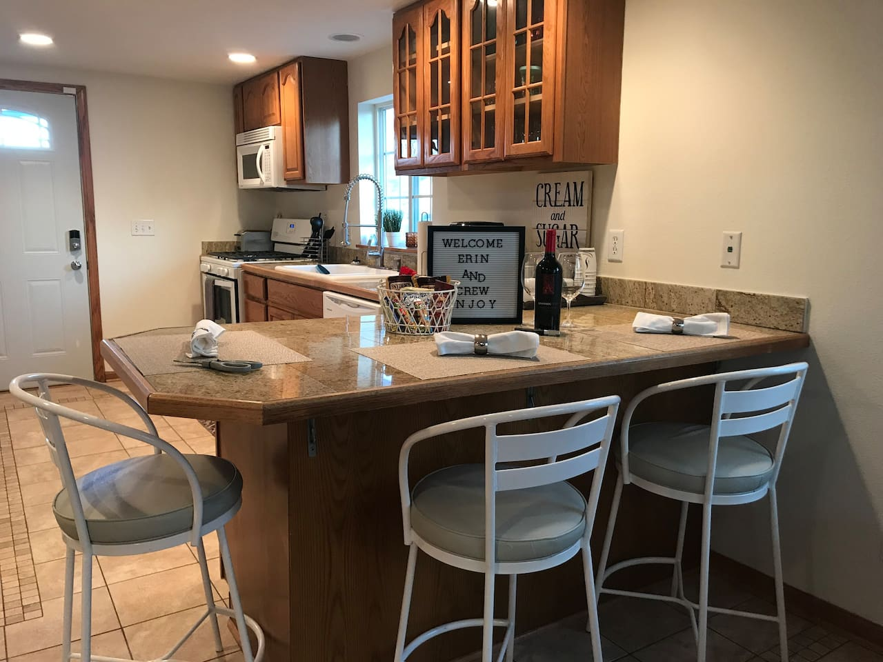 Beautifully refurbished home with newer kitchen and new appliances!
