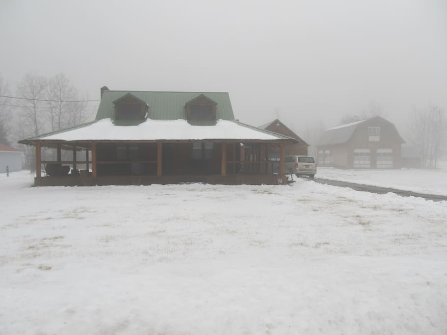 A snowy day at Krahula Acres.  Time to fire up the snow machines!