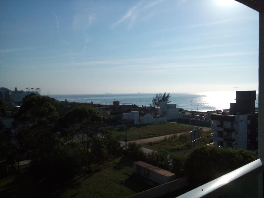 Vista da sacada do apartamento