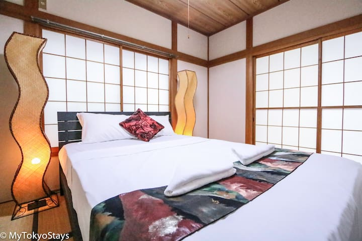 140m2 Four bdrm home - sleeps 10- Shibuya 10 min!