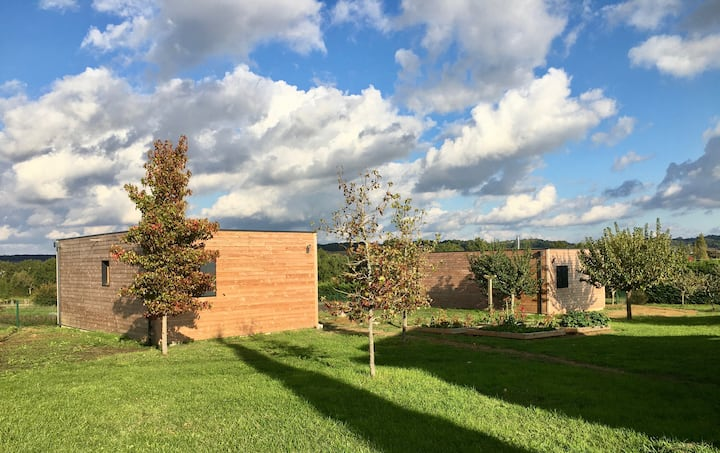 Lodge en bois / Gite dans Domaine Agricole Bio