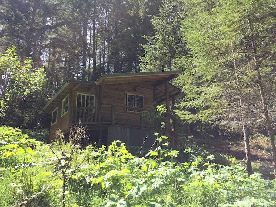 Cabin in the wood rustic romantic private farm stays for Romantic cabins oregon