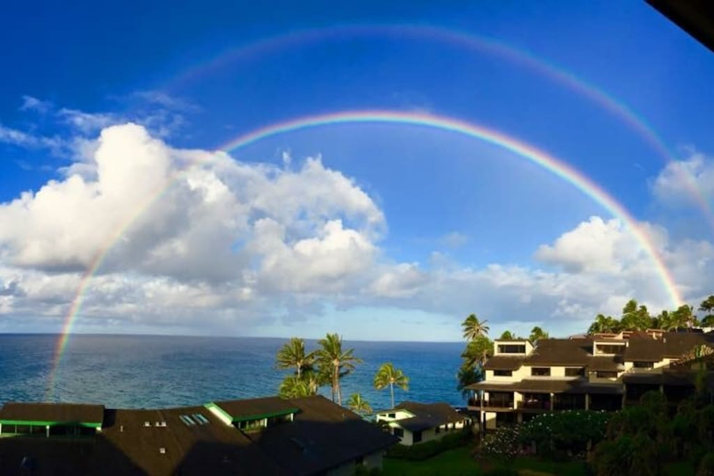 Double rainbows from Lanai