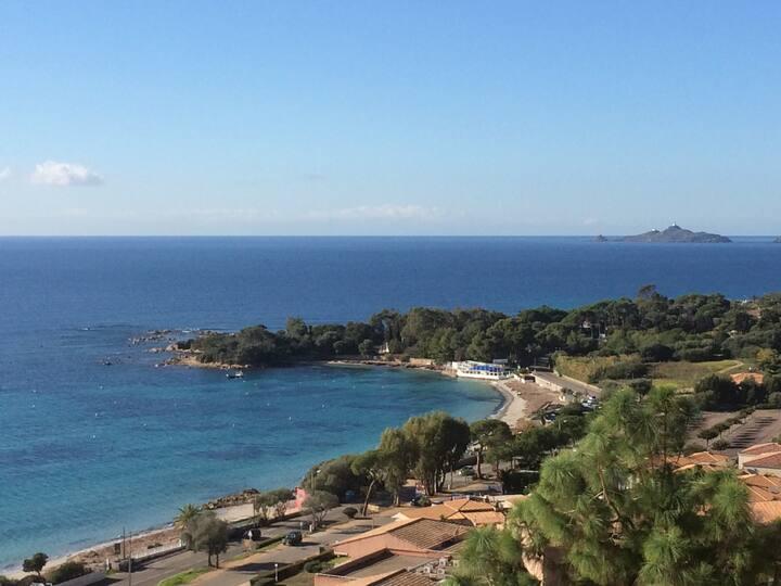 Studio vue except. plage Marinella et Sanguinaires