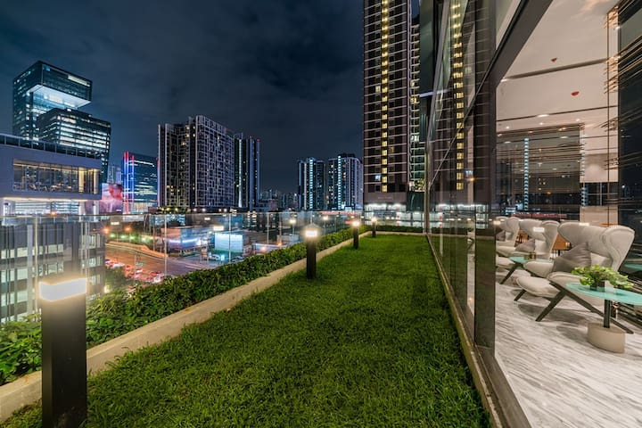 Bangkok曼谷市中心豪华Loft—近火车夜市—曼谷市中心超美夜景