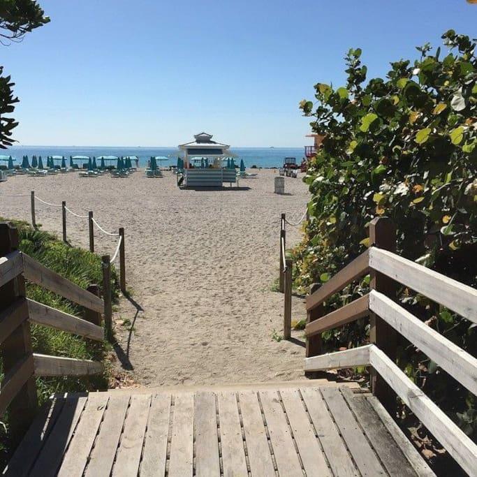 Boardwalk next to the beach