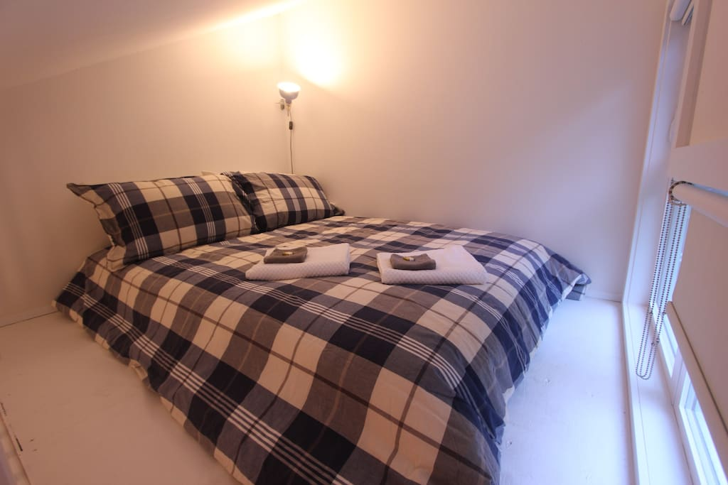 A loft bedroom with comfy double bed is situated above the living room. Perfect for the kids.