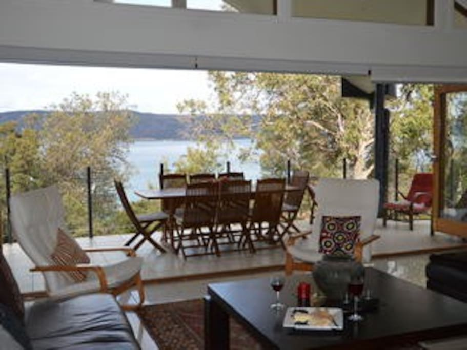 Private, open plan living with views to the bay