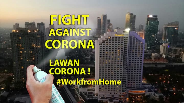 Stay at Central Jakarta, near MRT to #workfromhome