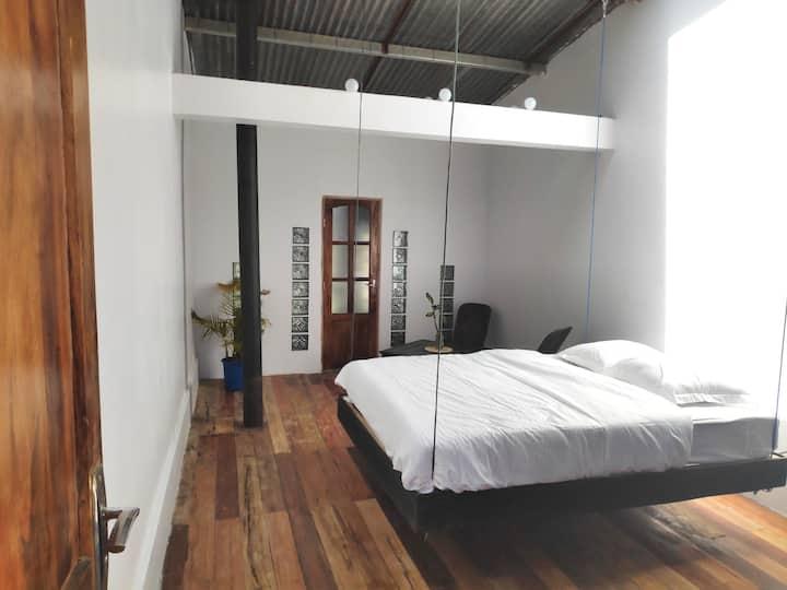 Belle chambre avec vue dans un spa, centre de Tana