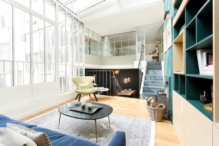 artist loft typical Parisian