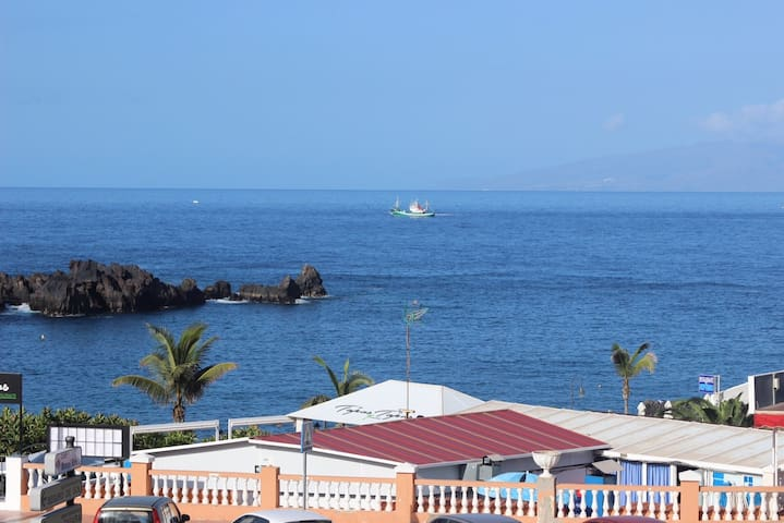Meerblick-Apartment direkt am Strand von La Arena - Santiago del Teide - Apartmen