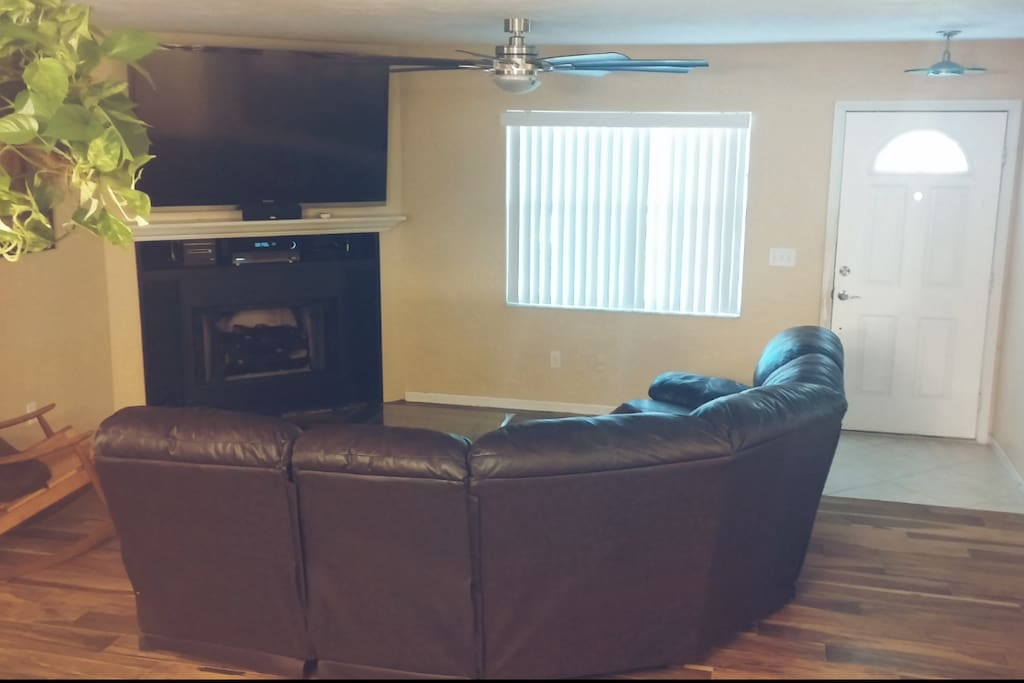 Living room with reclining couch