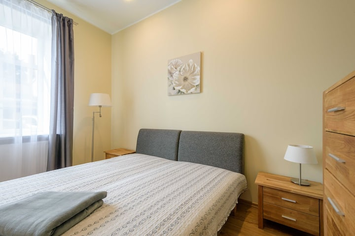 A very cozy, 2-room apartment, 400m from the beach