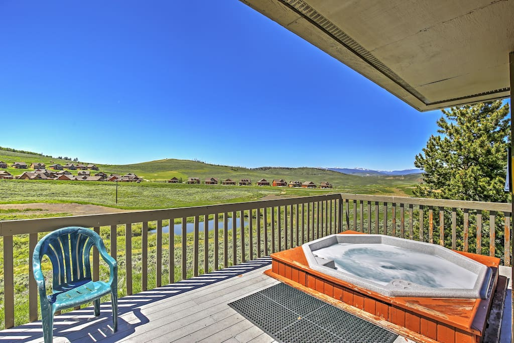 You'll love finishing up the day in this spacious community hot tub.