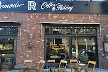 Stylish cafe for motorcycle lovers (less than 10-minutes walk from our house)
