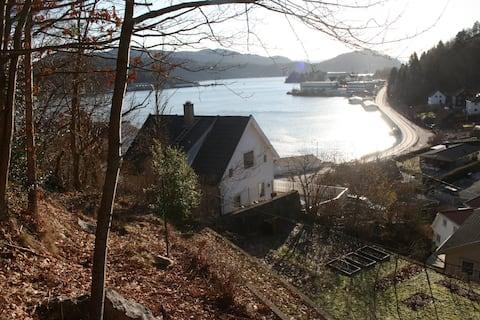 Charming Flekkefjord in panorama