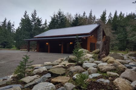 North Whidbey Lodge in the woods.