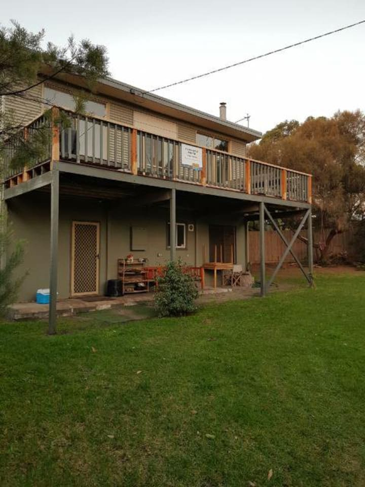 Large west facing deck