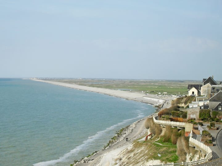 Vue magnifique de l'océan | Studio cosy dans le nord de la France