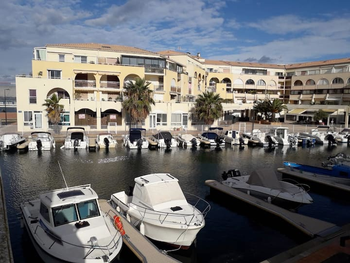 Studio Cosy : Vue canaux, 5min de la mer, Parking
