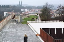 Bastion and Prague medieval fortification - 3 minutes walk from our apartment