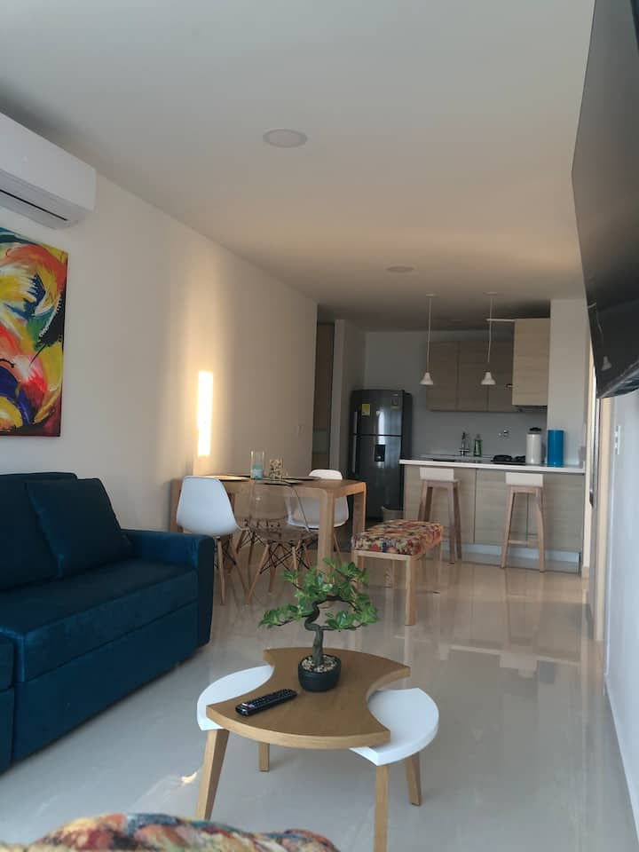 Exclusivo apartamento nuevo con vista al mar